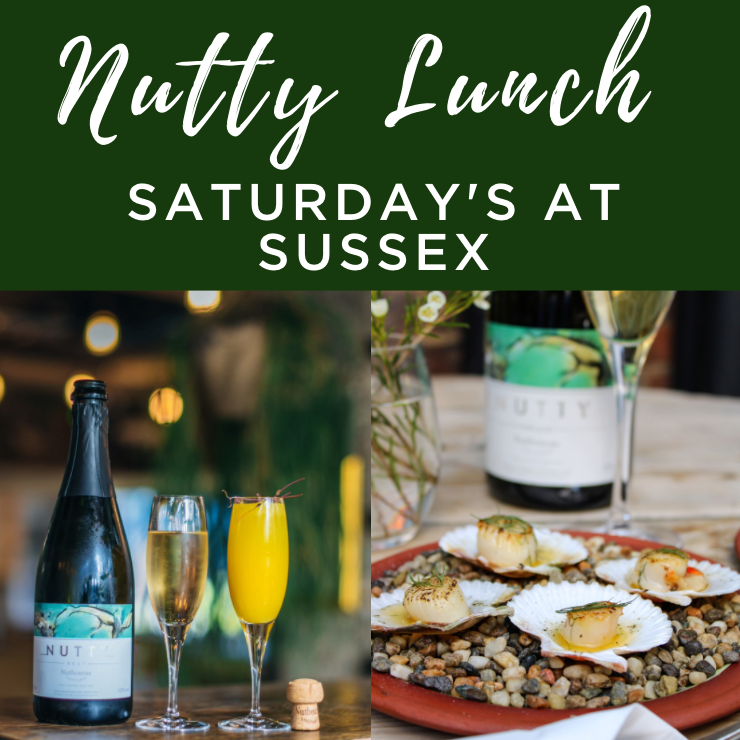 Nutty Lunch; Free-flowing Nutty with three-courses every Saturday