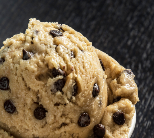 Tahini Cookie Dough Ice Cream