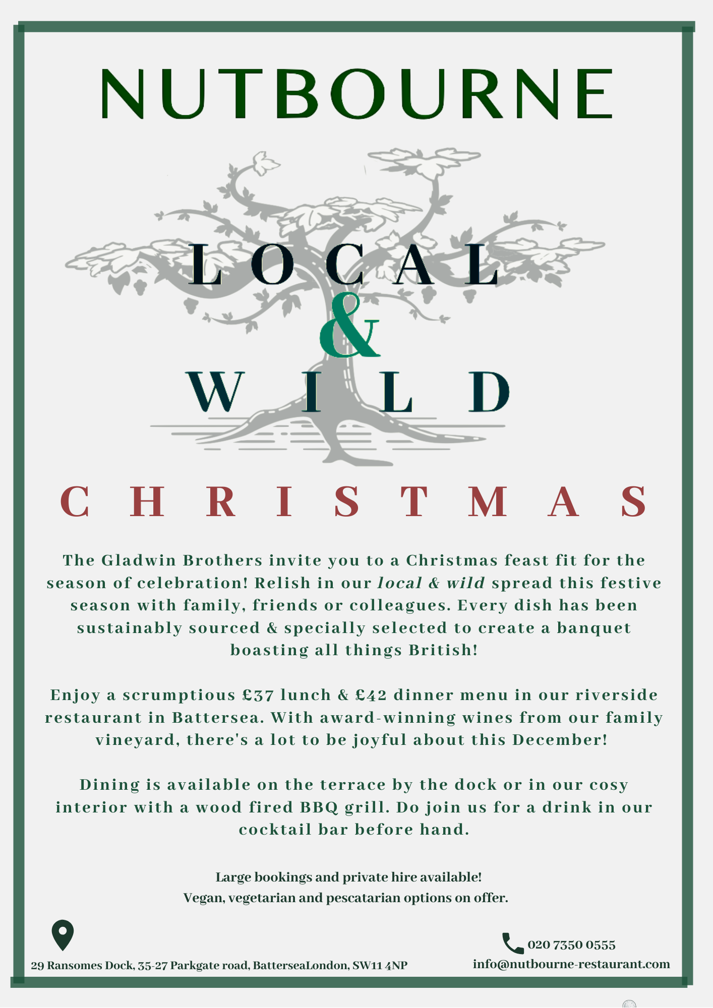 Local & Wild Christmas at Nutbourne!