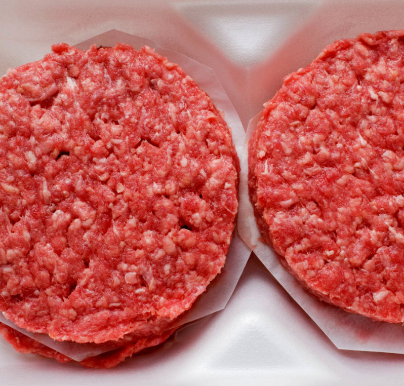 Beef Burgers (2 patties, 450 grams).