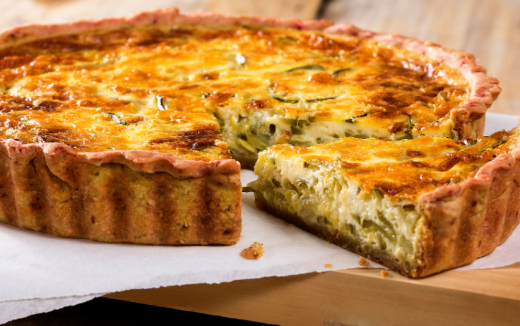 Smoked Gammon, Cheddar & Herb Quiche