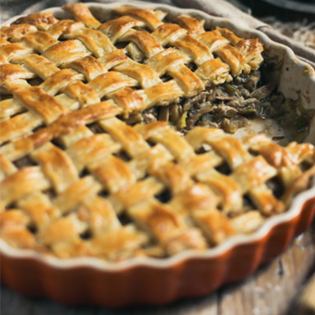 Sussex Beef, Thyme & Celeriac Pie